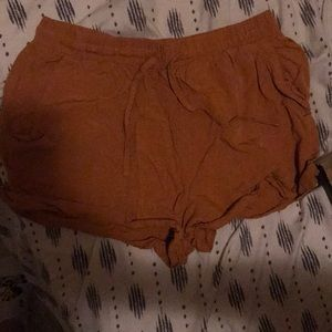 Mustard colored shorts